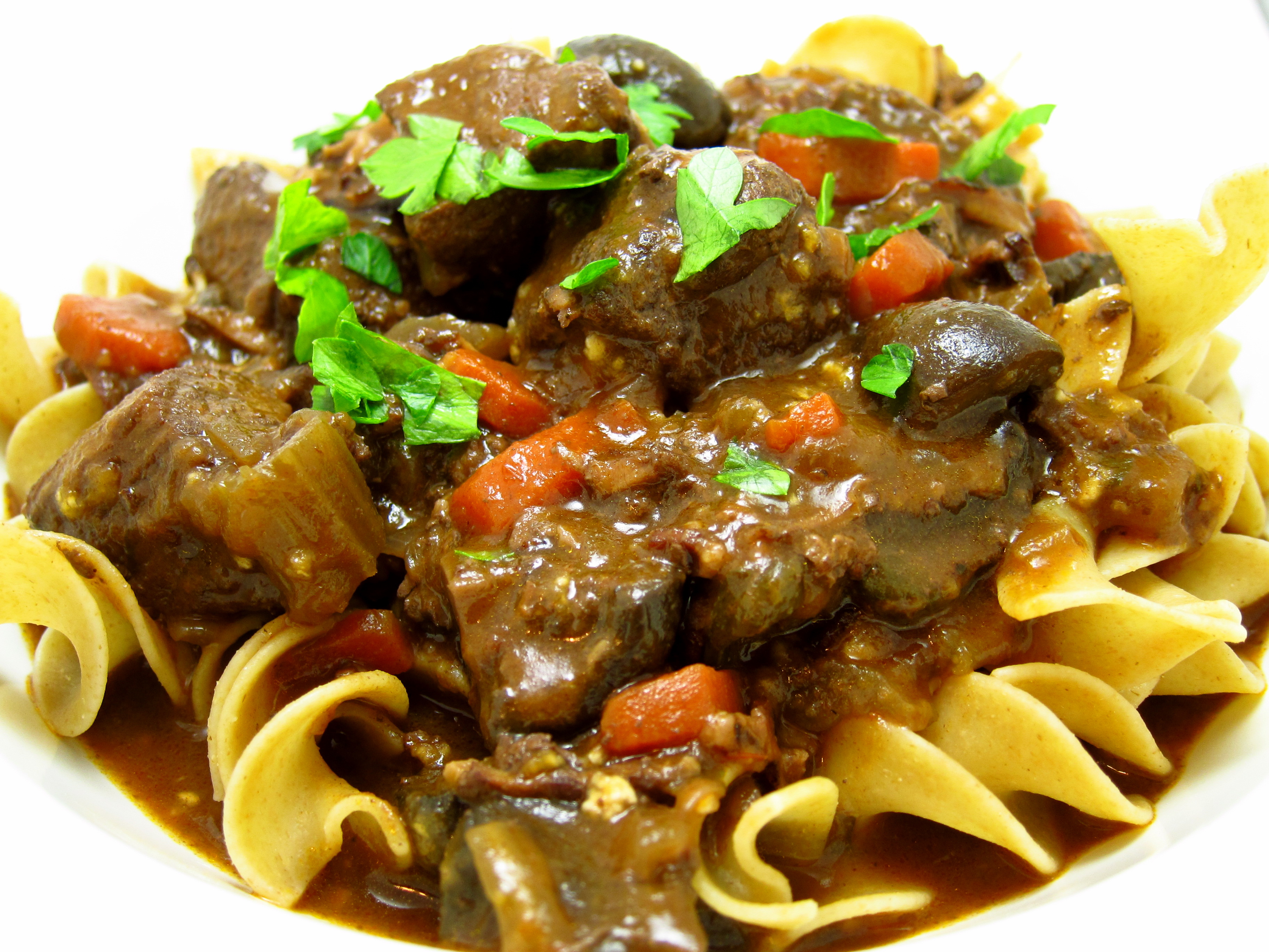 Slow Cooker Beef Bourguignon | Happy When Not Hungry
