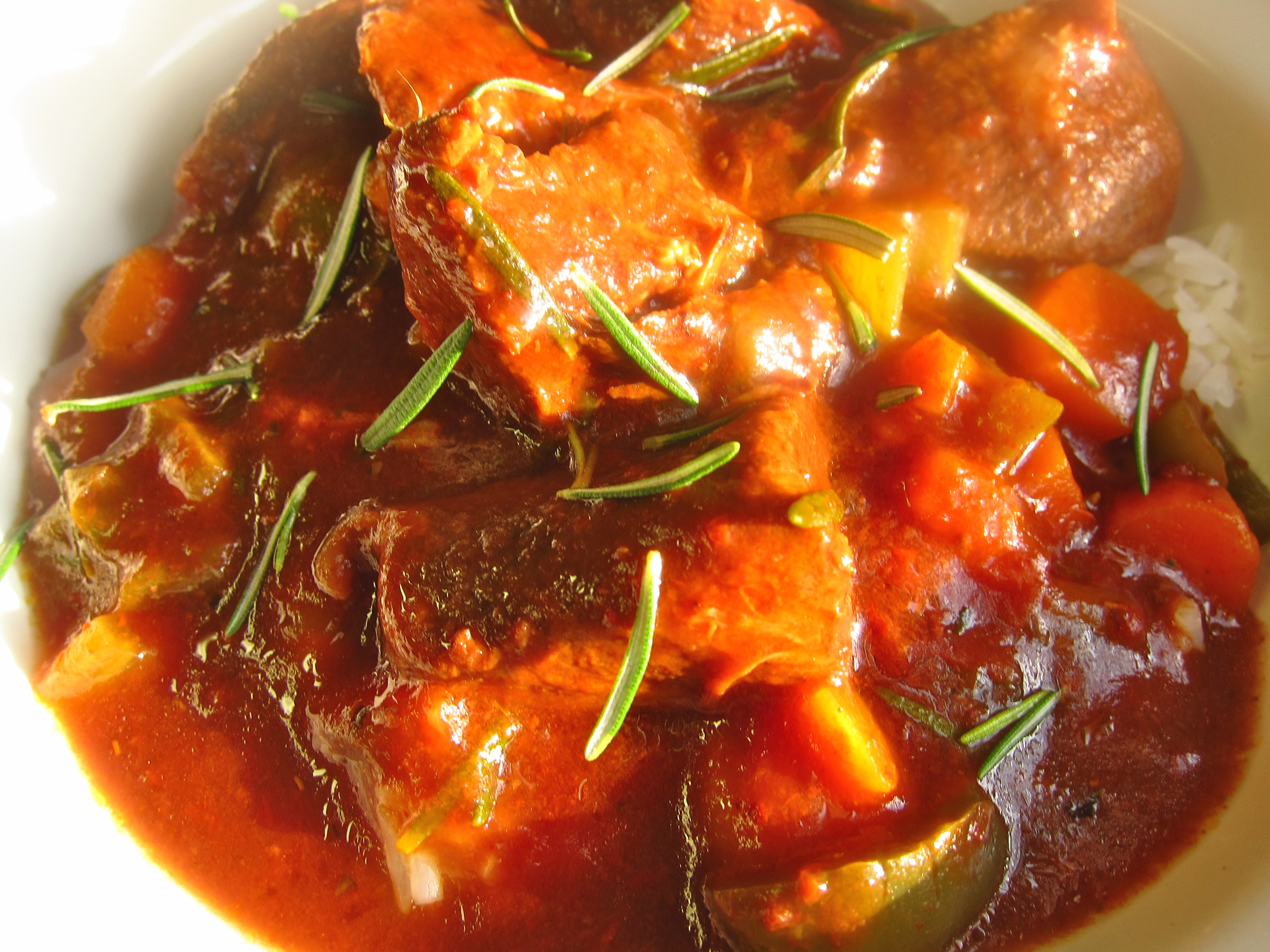 Slow Cooker Italian Beef Stew - Happy When Not Hungry Recipes